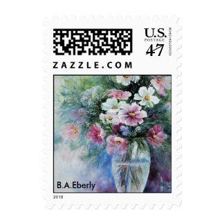 Cosmos in Vase Stamp