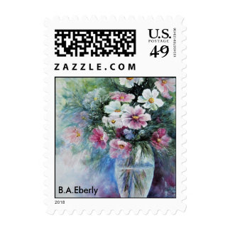 Cosmos in Vase Stamps