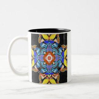 Cosmos Mandala Two-Tone Coffee Mug