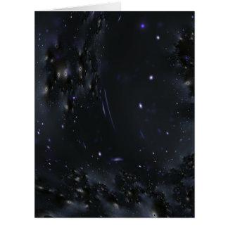 Cosmos oscuro tarjeta de felicitación grande