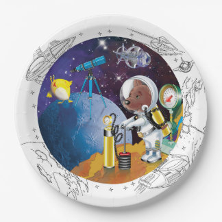 cosmos paper plate