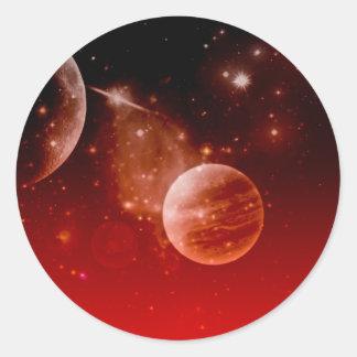 cosmos, pegatinas redondas