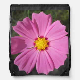 Cosmos Pink Flower Cinch Bag