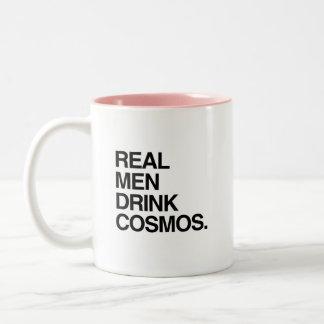 Cosmos real de la bebida de los hombres taza dos tonos