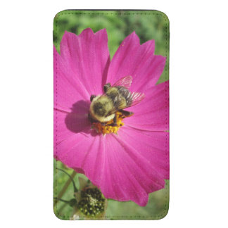 Cosmos Red Flower Bee Galaxy S5 Pouch