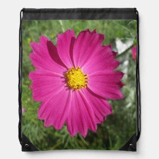 Cosmos Red Flower Drawstring Backpacks