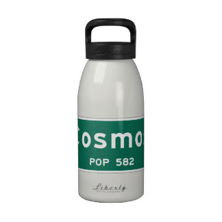 Cosmos, Road Marker, Minnesota, USA Drinking Bottle