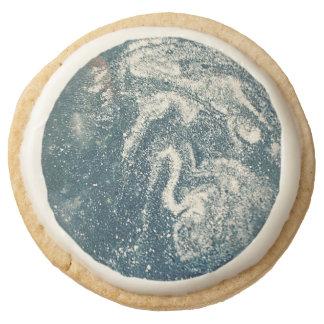 Cosmos-Space Round Premium Shortbread Cookie