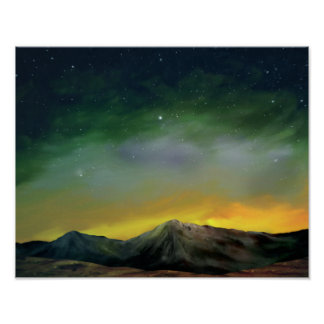 Cosmos - Starry Sky Digital Painting Poster 11x14