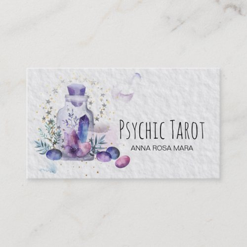 Cosmos Stars Crystals Universe Psychic Tarot Business Card