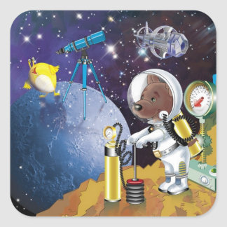 cosmos square sticker