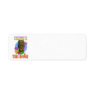 Cosmo's Tiki Bar Label