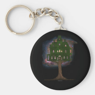 Cosmos Tree House Basic Round Button Keychain