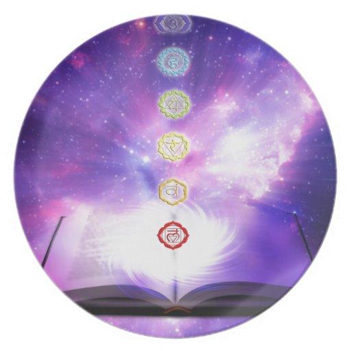 cosmos violeta del ser humano del extracto del uni platos de comidas
