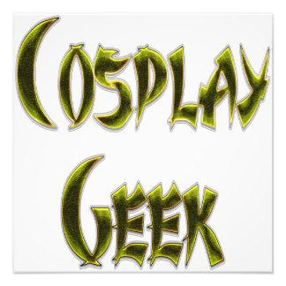 Cosplay Geek Yellow Photographic Print