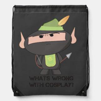 """Cosplay"" String Bag - A Nawty Ninja Design Rucksacks"