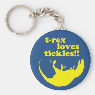 ¡Cosquillas de los amores de T-rex! Llavero Redondo Tipo Pin