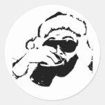 ¿Cosquillas de Santa? Pegatinas Redondas