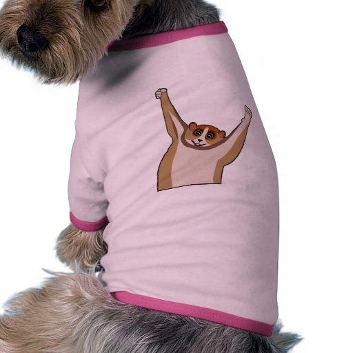 Cosquillas lentas 1 de Loris Camiseta Con Mangas Para Perro