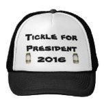Cosquillas para el casquillo del presidente en 201 gorro de camionero