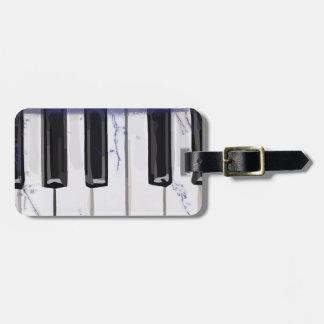 Cosquillee el piano de marfil etiqueta para equipaje