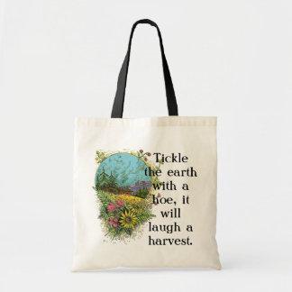 Cosquillee la bolsa de asas de la cosecha de la ti