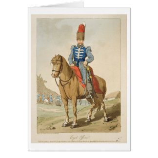 Cossack Officer, etched by the artist, published 1 Card