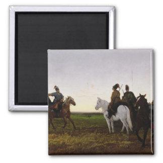 Cossacks on Horseback, 1874 (oil on canvas) Magnet