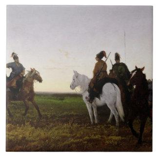 Cossacks on Horseback, 1874 (oil on canvas) Tiles
