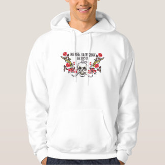 Cossack's Skull roses and guns cross stitch Pullover