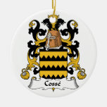 Cosse Family Crest Double-Sided Ceramic Round Christmas Ornament