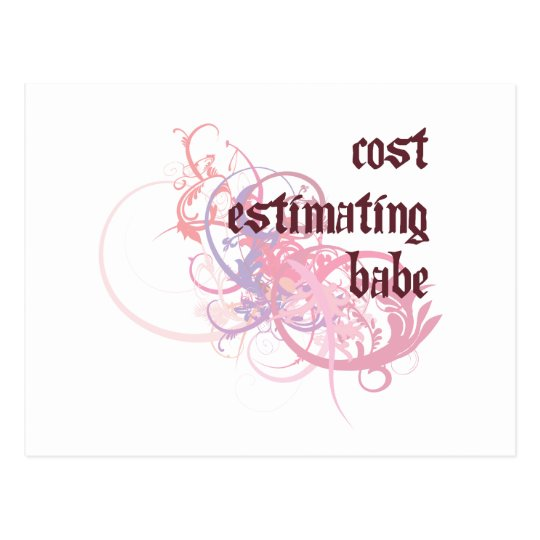 Cost Estimating Babe Postcard