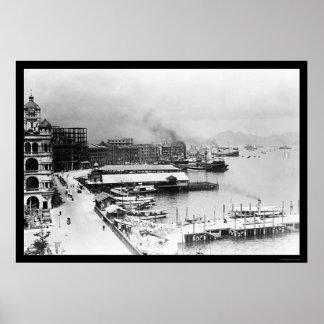 Costa 1906 de Hong Kong Impresiones