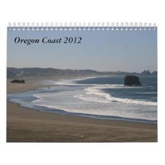 Costa 2012 de Oregon Calendario De Pared