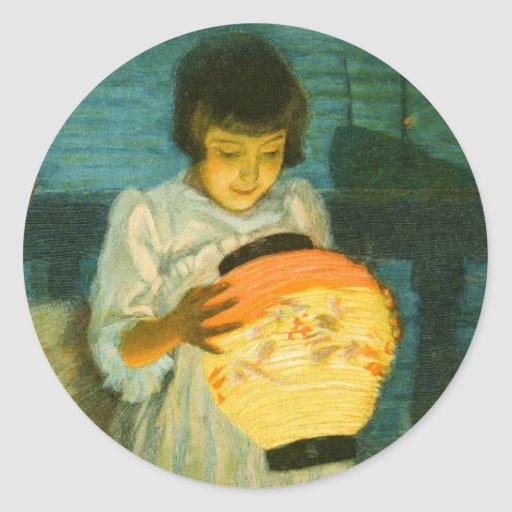 Costa azul de la linterna de Schlittgen de la Etiqueta Redonda