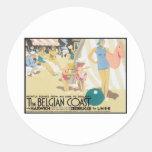 Costa belga Bélgica del vintage Etiqueta Redonda