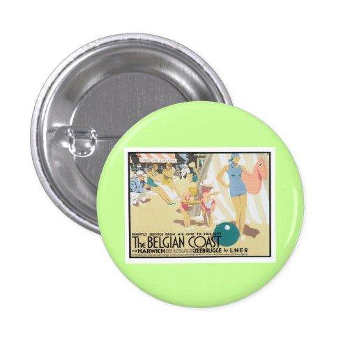 Costa belga Bélgica del vintage Pins
