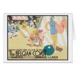 Costa belga Bélgica del vintage Tarjeta