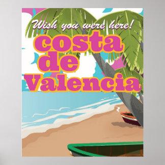 Costa Blanca vintage travel poster