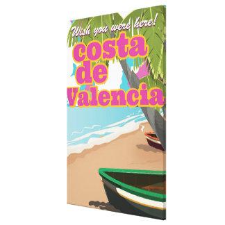 Costa Blanca vintage travel poster Canvas Print