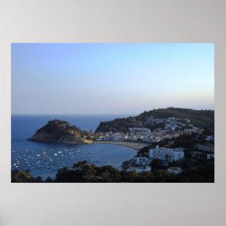 Costa Brava España de Tossa de Mar Póster