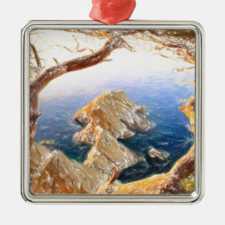 Costa Brava in Spain with crayons Metal Ornament