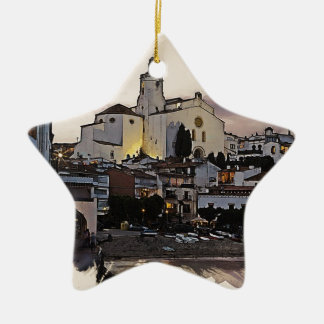 costa brava spain 2 ceramic ornament