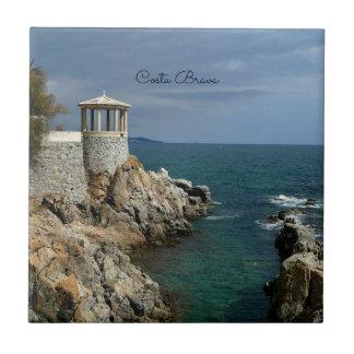 Costa Brava, Spain scenic photograph Tile