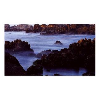 Costa brumosa tarjetas de visita