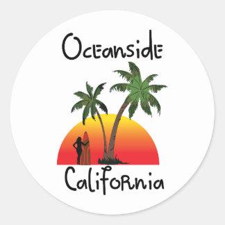 Costa California Pegatina Redonda