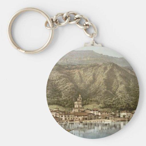 Costa, Campione, obra clásica Photochrom de Italia Llavero Redondo Tipo Pin