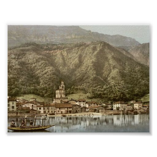 Costa, Campione, obra clásica Photochrom de Italia Posters