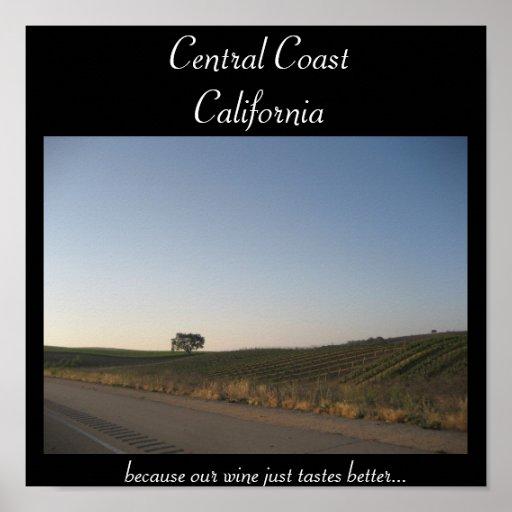 Costa central, poster de California