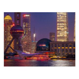 Costa céntrica Shangai, China Tarjeta Postal